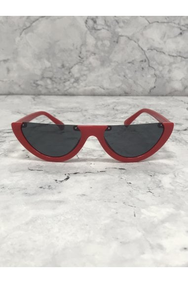 Red Half Frame Sunglasses
