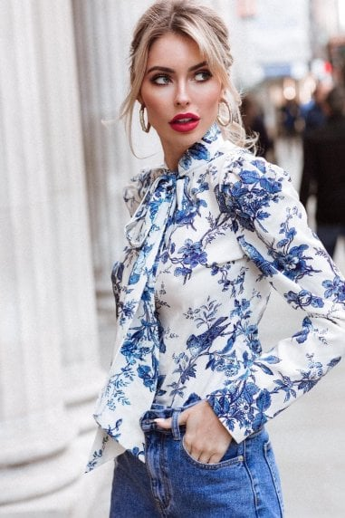 Blue Orchid Blouse
