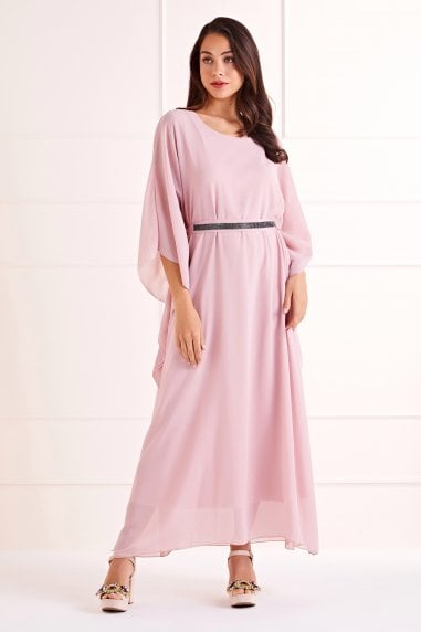 Exaggerated Batwing Maxi Dress