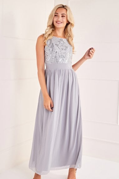 Sequin Detailed Maxi Dress