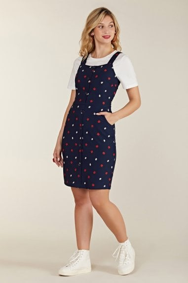 Ladybird And Daisy Printed Pinafore Dres