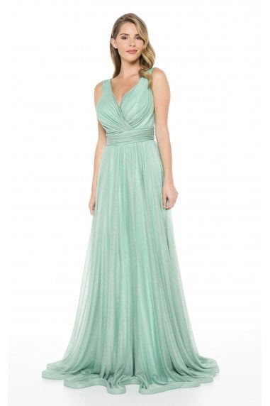 Ladyness Mint Maxi Bridesmaid Dress