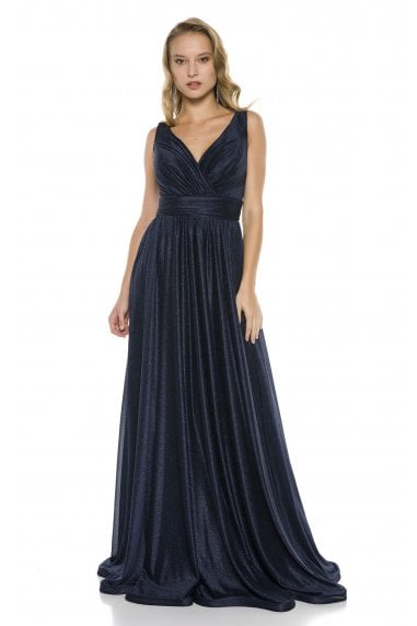 Ladyness Navy Maxi Bridesmaid Dress