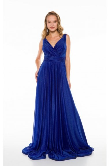 Ladyness Royal Blue Maxi Bridesmaid Dress