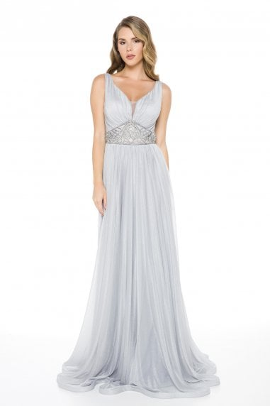 Ladyness Soft Tulle Maxi Dress
