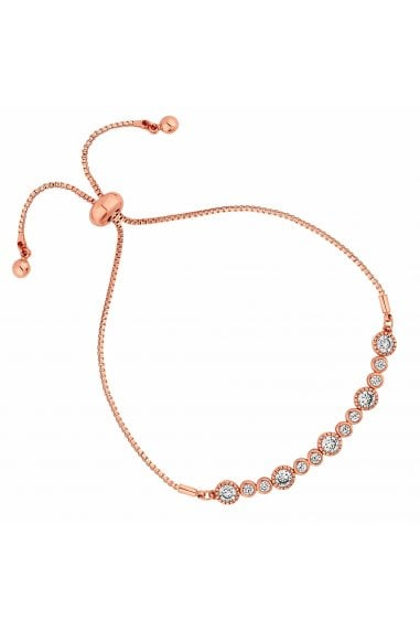 Jon Richard Rose Gold Crystal Multi Circle Toggle Bracelet