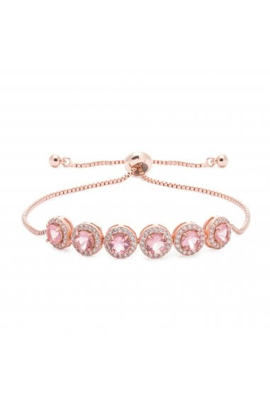 Jon Richard Rose Gold Pink Pave Toggle Bracelet