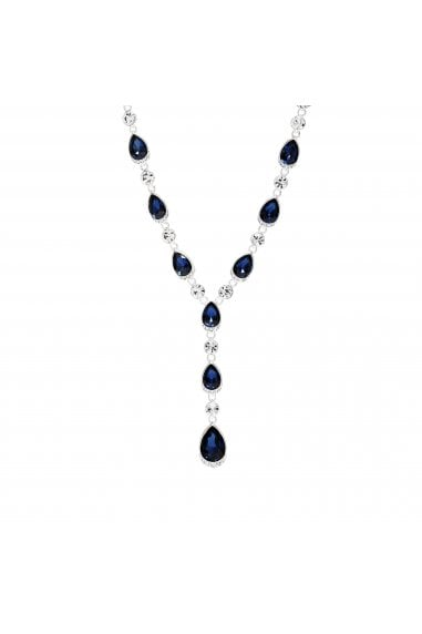 Jon Richard Silver Plated Blue Crystal Pear Necklace