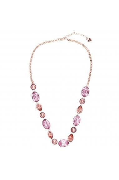 LIPSY ROSE GOLD PLATED PINK MULTI STONE STONE NECKLACE