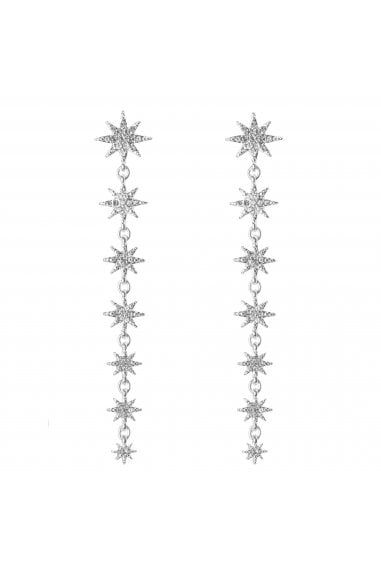 MOOD - By Jon Richard SILVER PLATED CELESTIAL LINEAR DROPS EARRING
