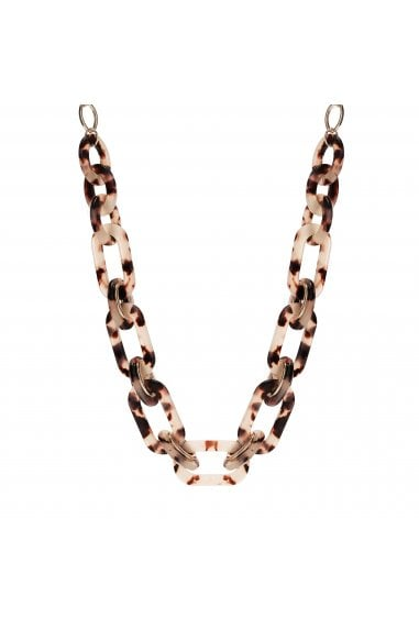 MOOD - By Jon RichardGOLD PLATED TORTOISE SHELL LINK NECKLACE
