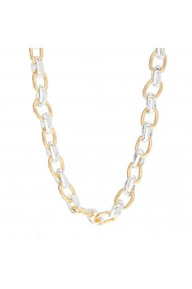 MOOD - By Jon RichardSILVER AND GOLD PLATE CHAIN NECKLACE