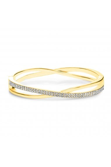 MOOD - By Jon RichardGOLD PLATED PAVE CROSS OVER BANGLE