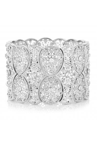 MOOD - By Jon RichardSILVER PLATED FILIGREE STRETCH BRACELET