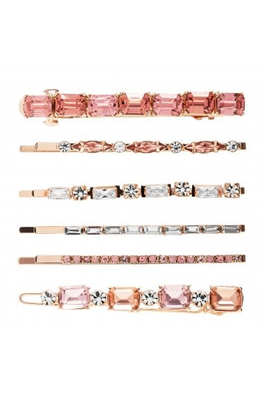 MOOD - By Jon Richard ROSE GOLD PLATED MIX SHAPE SLIDES-6 PACK