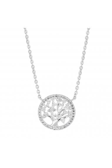 Simply Silver Sterling Silver 925 Cubiz Zarconia Tree Of Life Pendant