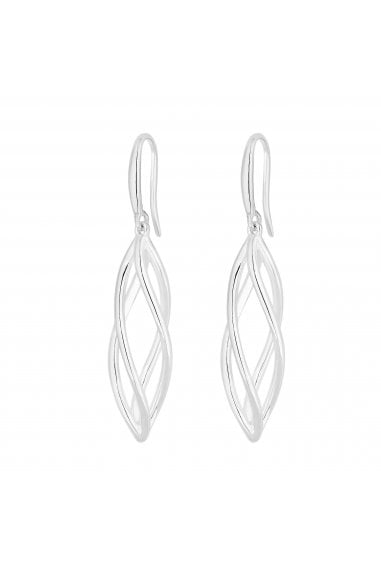 Simply Silver Sterling Silver 925 Polished Cage Drop Earring