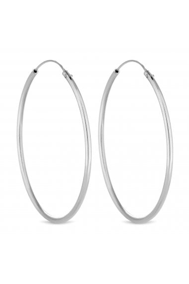 SIMPLY SILVER 40MM SLEEPER HOOP