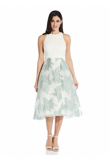 Organza Jacquard Combo Dress