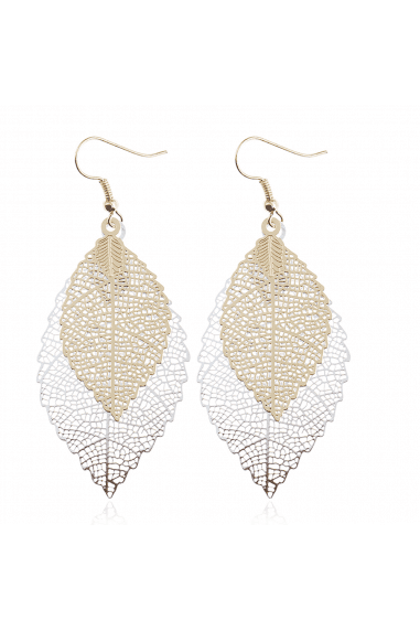 Multi Leaf Drop Cutwork Earrings