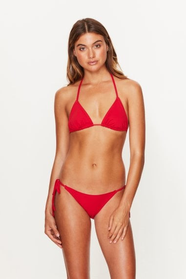 Triangle Bikini Top Red