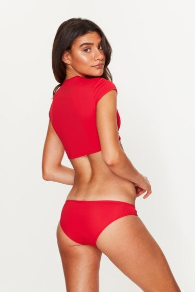 Low Rise Bikini Bottoms Red