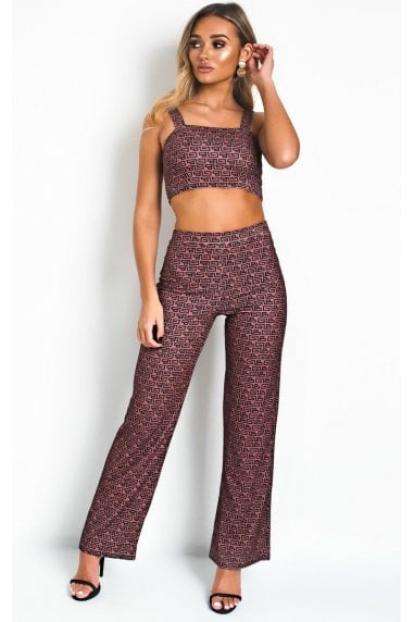 Lissy Stretch Wide Leg Co-ord Size