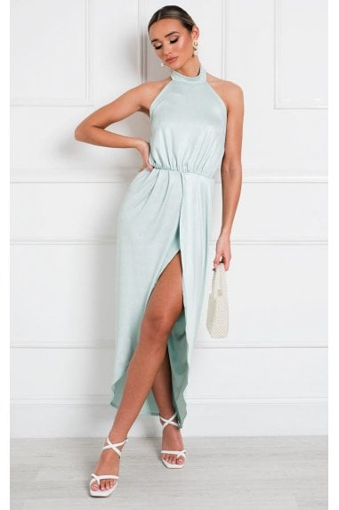 Serena Halterneck Backless Maxi Dress