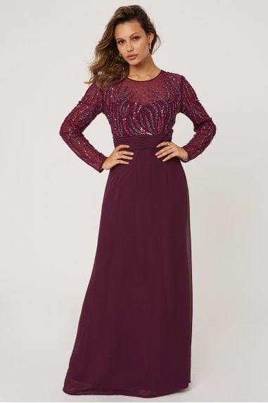Georgie Plum Hand Embellished Maxi Dress