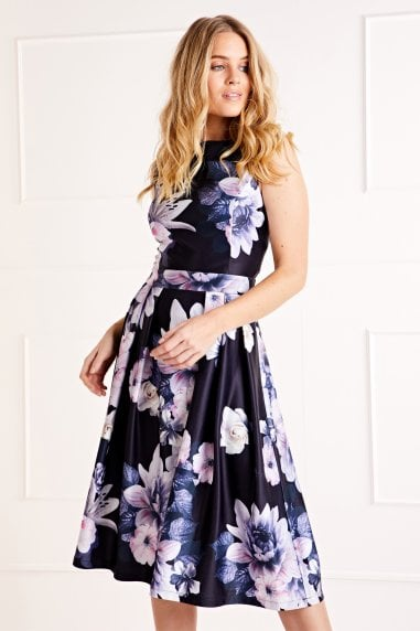 Floral Printed Prom Dress