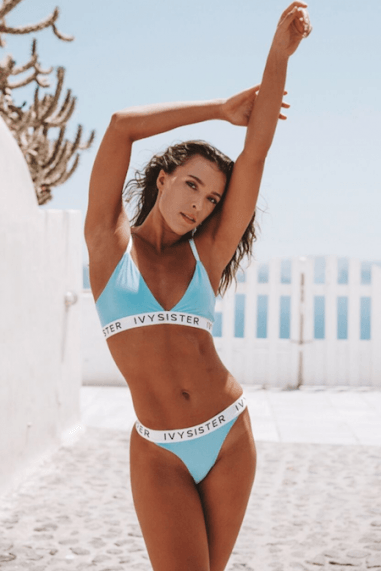Amelia Blue Triangle Bra