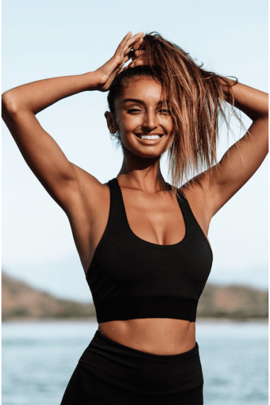 Georgia Sports Bra in Black