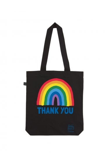 Rainbow Black Tote Bag
