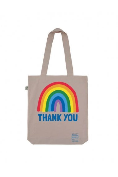 Rainbow Misty Pink Tote Bag
