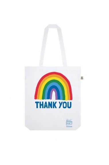 White Rainbow Shopper Tote Bag