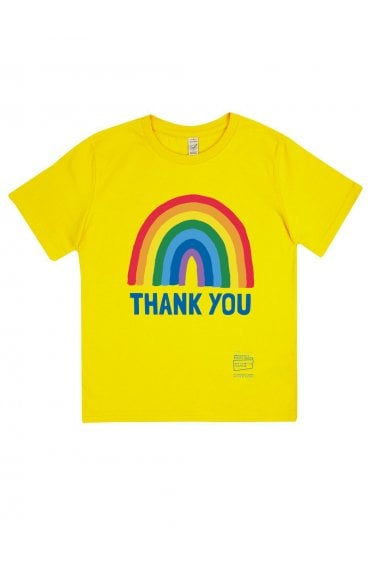 Kids Buttercup Yellow Rainbow Classic Jersey T-Shirt