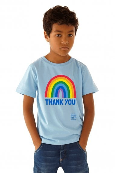 Kids Light Blue Rainbow Classic Jersey T-Shirt