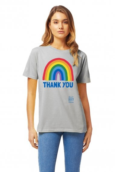 Unisex Light Grey Rainbow Jersey T-Shirt
