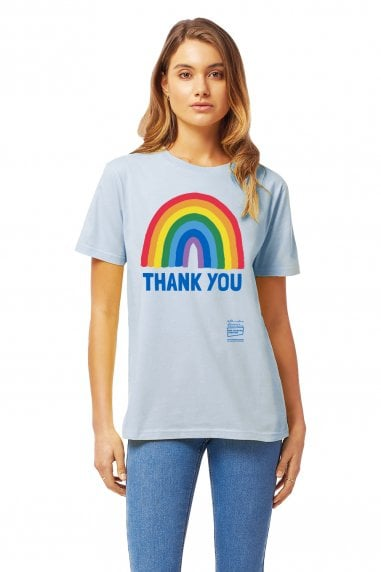 Unisex Light Blue Rainbow Classic Jersey T-Shirt
