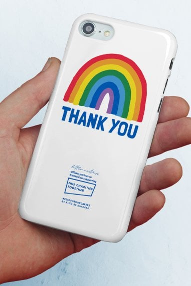 iPhone 8 Plus Slim Gloss Case With Thank You Rainbow