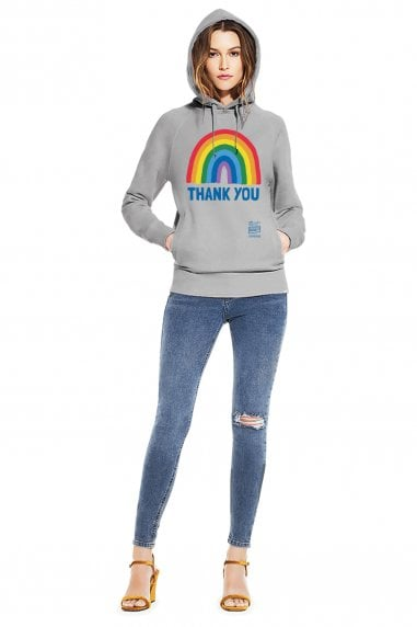 Unisex Light Heather Rainbow Pullover Hoodie With Side Pockets