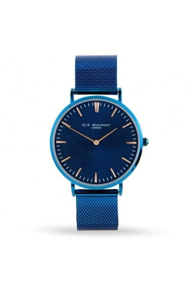 Oxford Large Mesh Blue Watch