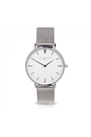 Oxford Large Mesh Silver Watch