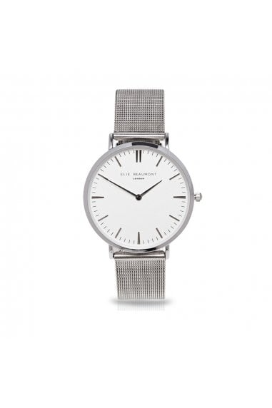 Oxford Small Mesh Silver/Black Watch