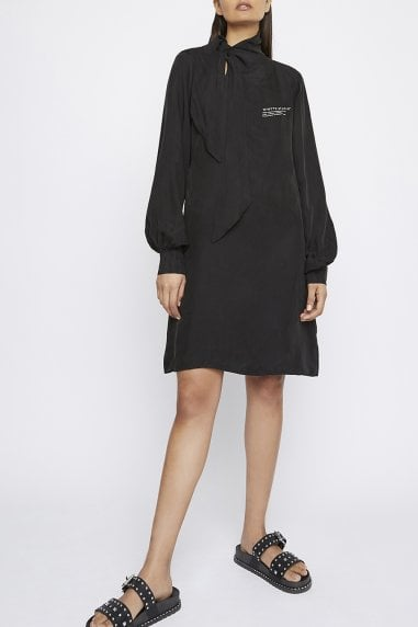 "THE ""JUSTIFY"" SHIFT DRESS WITH NECK TIE"