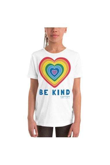 Kids White Be Kind Heart Classic Jersey T-shirt