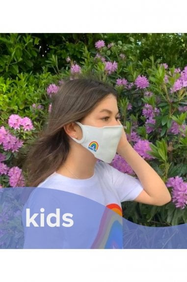 White Face Mask / Soft Touch For Kids -Pack of 3