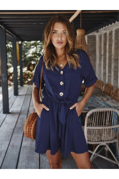 Playsuit In Navy