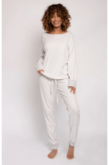 Organic Cotton Lounge Set - Grey Ecru