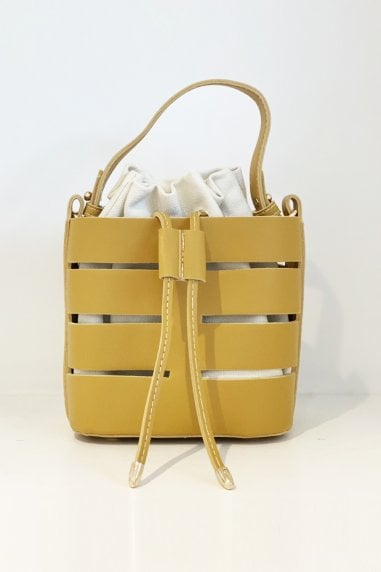 Out Shoulder Bag Bucket Handbag In Yellow